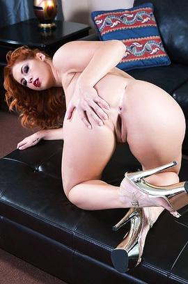 Hot Redhead Babe Edyn Blair Undressing